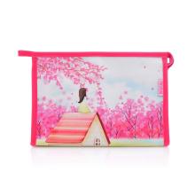 Bolsa embreagem promocional para cosméticos em PU com estampa digital Lady Fashion (YKY7532-1)
