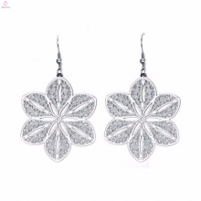 2018 Most Popular Personalized Sunflower Silver Earrings In China