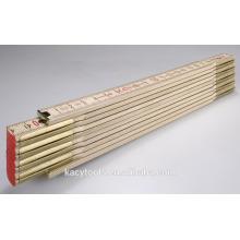 Régua de dobramento de madeira de 200cm com impressão do logotipo