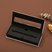 Caja de regalo magnética con logotipo personalizado con ventana de PVC