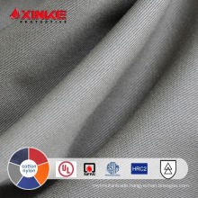 EN 11612 Gray 260gsm 88/12 cotton nylon flame retardant fabric for work clothes