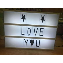Cinema Light Box Letters tecken
