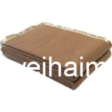 50%Wool/50%Polyester Blend Woven Woollen Hotel Blanket