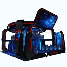 Detian offre grande exposition de jeu de salon stand de stand d'exposition innovante juste avec vitrine