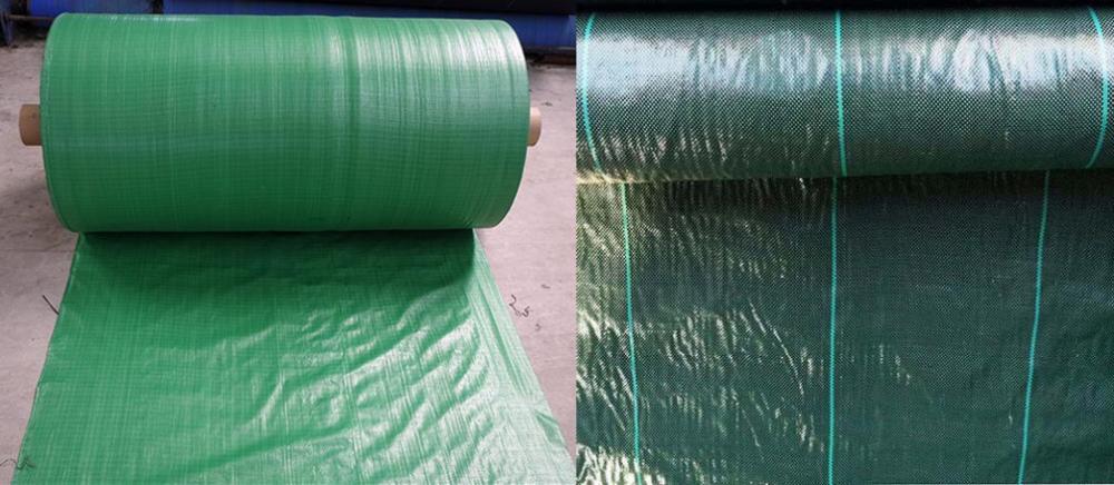 Green Dark Green Woven Weed Mat