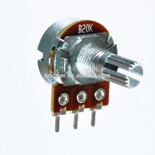 Potenciómetros de montaje en PCB 16K1 con potenciómetro rotativo interruptor