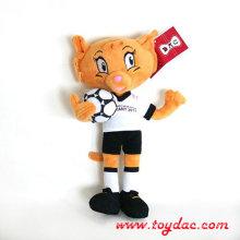 Plüsch Katze Fußball Spiel Maskottchen