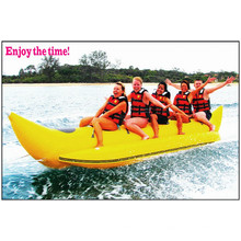 2015 atraente material de PVC para 5 pessoas barco inflável barco de banana com CE China