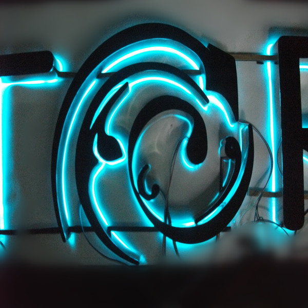 RGB backlit sign
