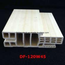 Df-120W45 E Estilo WPC Porta Frame WPC Porta Jamb PVC Espumada Porta Bolso Df-120W45