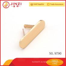 Etiqueta de metal redondo redondo en forma oval