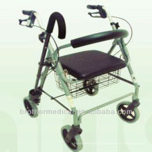 Aluminum Rollator with cane-BME883L