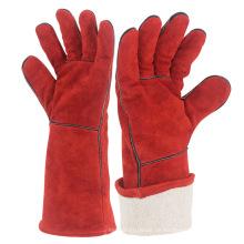 14-Zoll-volle Futter-Kuh-Leder-schützende Schweißens-Handschuhe ZMR105