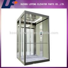 Elevador de cristal de tracción, ascensor panorámico, ascensores residenciales
