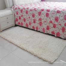 bedside white shaggy plain prayer rug for the living room