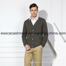 Harter einfarbiger reiner Kaschmir-Pullover der Männer