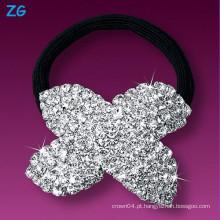 Alta qualidade cristal cheio headband do casamento do Rhinestone, faixa francesa do cabelo, faixa do cabelo do rhinestone das senhoras