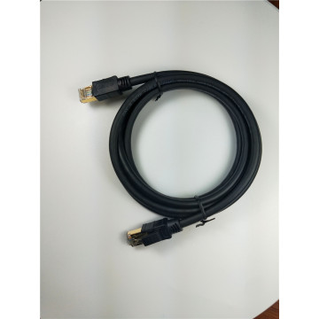 Cable Ethernet RJ45 CAT8 chapado en oro de 2000Mhz