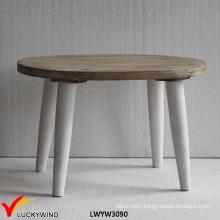 Oval Shape Handmade Wooden Vintage Footstool