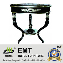Solid Wood Silver Leaf Professional Coffee Table (EMT-CT12)