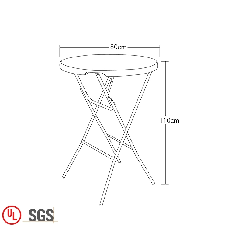 Plastic Round Folding Table