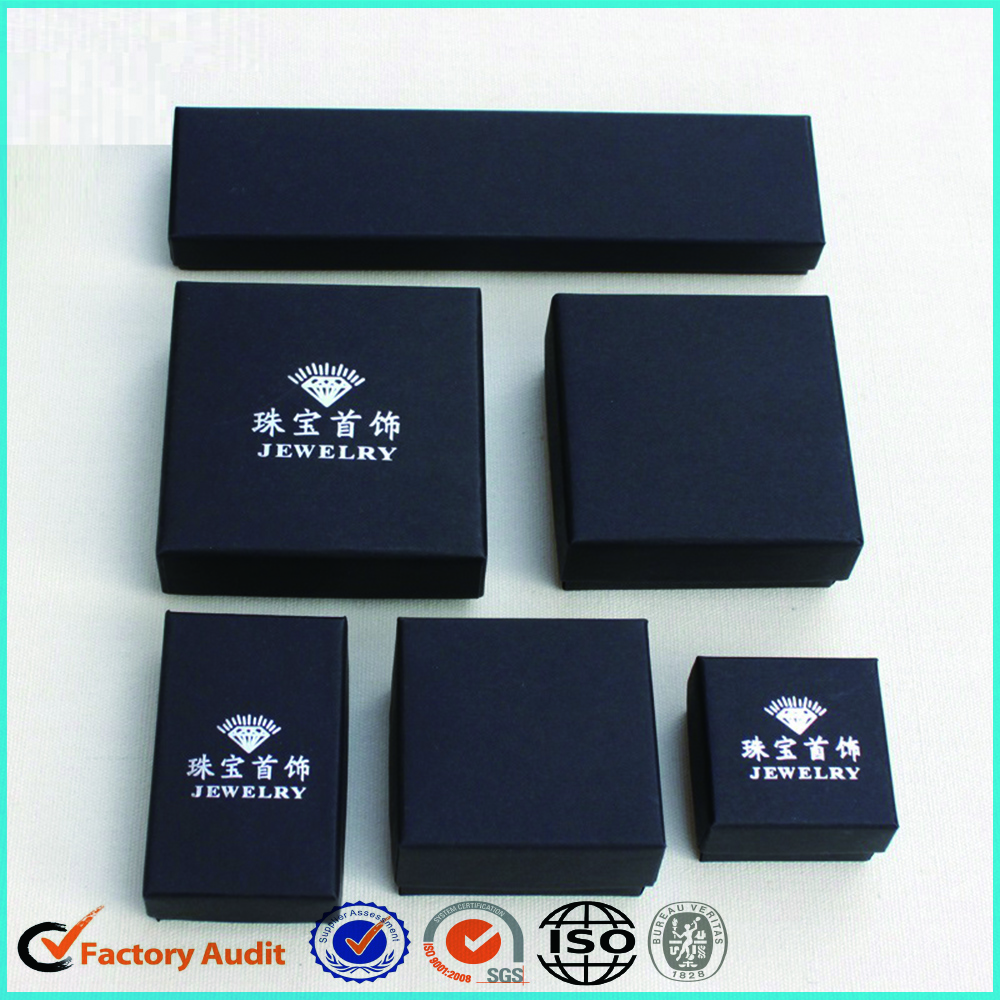 Black Jewelry Set Box Packaging