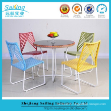 Sailing New Style Antique Plastic Rattan Garden Party Chairs And Tables