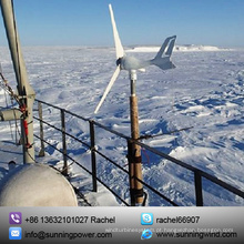 Sistema de gerador de turbina de pequeno vento de 300W para barco (MINI 3 300W)