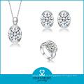 Branco zircônia cúbica 925 jóias de prata esterlina para mulheres (sh-j0108)