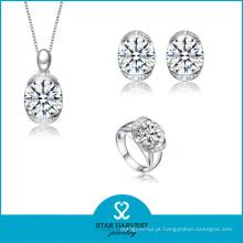 Elegant Moonstone Silver Jewellery Set para amostra grátis (J-0108)