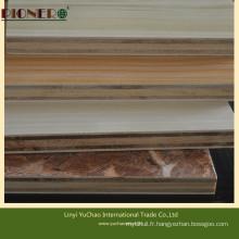 Contreplaqué stratifié de 18 mm avec grain de bois Mélamine