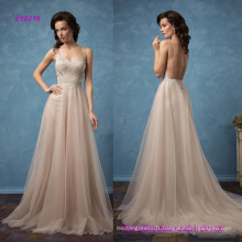 Sexy Backless Spaghetti Straps Floor Length A-Line Prom Dress