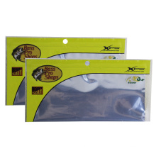 Customized Printed Resealable Transparent Soft Plastic Fishing Bait Packaging Bag Fishing Lures With Ziplock