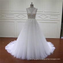 HD002 Оптовая цена довольно Рябить свадебное платье 2016 Свадебные