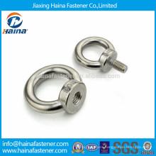 Stainless steel forged shoulder screw eye,eye bolt