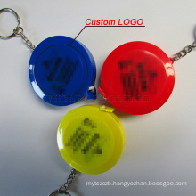 wholesale LOGO custom Portable Retractable Ruler Keychain Tape Measure 60inch/150cm automatic gift ruler