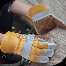 SRSAFETY High quality cow split leather gloves/cowhide gloves