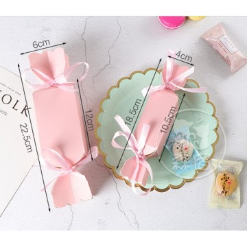 Chocolate paper box with ribbon knot
