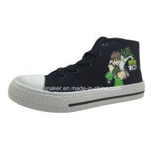 Asian Cool Cartoon High Ankle Children Sneaker (X169-S&B)