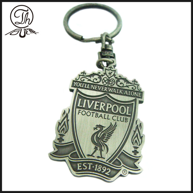 Antique football club keychain