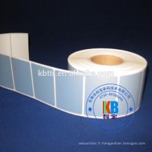 Etiquette adhésive imprimée polyester PET étiquette adhésive pvc argent mat