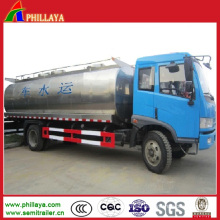 Stainless Steel Water Storage Tank Semi Trailer / Tanker