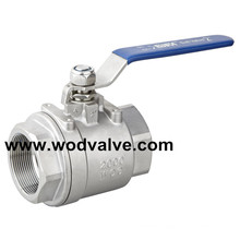 2000# High Pressure 2PC Ball Valve