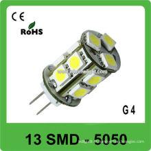 360 graus emitindo 13 SMD 5050 12V levou luz de bulbo G4