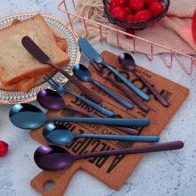 304 stainless steel purple flatware hotel cutlery set