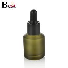 косметической упаковки 30 мл косой плечо матового зеленого стекла бутылки капельницы бутылка сыворотки