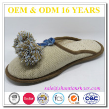 Good quality womens knitted fabrics indoor slipper
