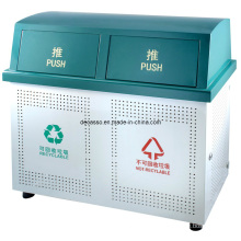 Classified Metal Outdoor Trash Can (DL106)