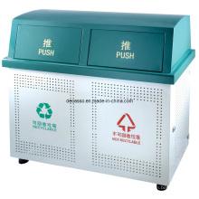 Lata de lixo ao ar livre do metal classificado (DL106)