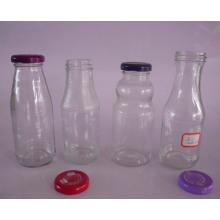 250ml, 260ml, 270ml Bouteilles de jus de verre pour boisson avec couvercle métallique